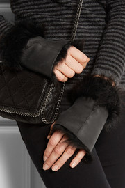 Karl Donoghue Fingerless shearling gloves