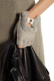Karl Donoghue Shearling fingerless gloves