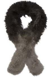 Karl Donoghue Boa ombré shearling scarf