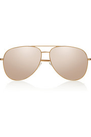 Saint Laurent Aviator metal mirrored sunglasses