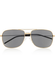 Saint Laurent Square-frame acetate aviator-style sunglasses