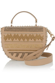 Christian Louboutin Panettone spiked textured-leather shoulder bag