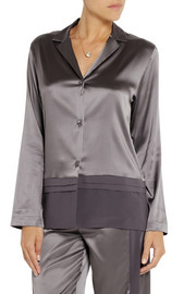 La Perla Stretch-silk satin pajama top