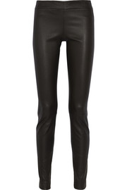 The Row Moto stretch-leather leggings
