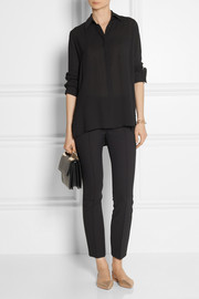 The Row Carlton oversized crepe blouse
