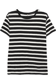 R13 Boy striped slub cotton and cashmere-blend T-shirt