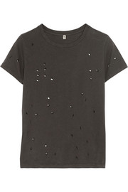 R13 Distressed Sydney cotton and cashmere-blend T-shirt