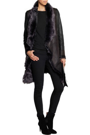 Karl Donoghue Leather-paneled shearling coat