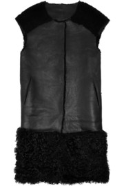 Karl Donoghue Shearling and leather gilet