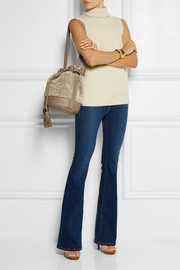 See by Chloé Vicki shearling and leather bucket bag
