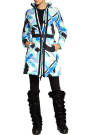 Emilio Pucci Quilted printed shell down coat