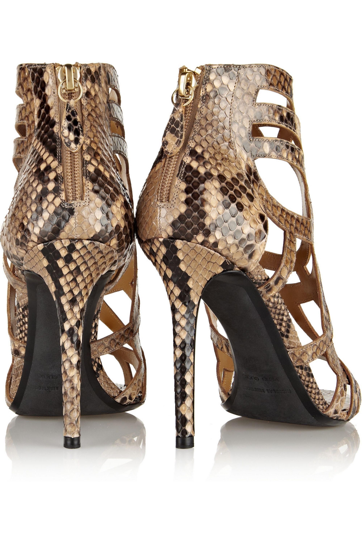 Nicholas Kirkwood Laser-cut python sandals