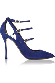 Nicholas Kirkwood Suede point-toe pumps