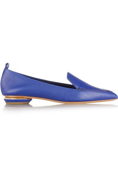 NICHOLAS KIRKWOOD Textured-leather point-toe flats