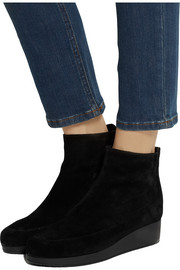 Robert Clergerie Nagil suede wedge ankle boots