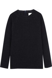 Studio Nicholson Oak stretch wool-blend crepe sweater