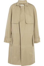 Ludlow matte satin trench coat