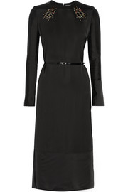 Victoria, Victoria Beckham Embellished satin midi dress