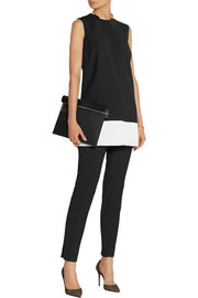 Victoria, Victoria Beckham Satin-trimmed twill tunic and pants set