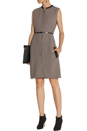 Victoria, Victoria Beckham Satin-trimmed crepe dress