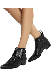 Early quilted leather ankle boots