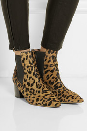 Tabitha Simmons Shadow leopard-print calf hair ankle boots