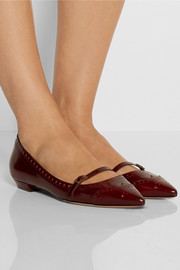 Tabitha Simmons Belfy glossed-leather point-toe flats