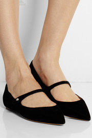 Tabitha Simmons Hermione velvet point-toe flats