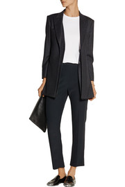 The Row Neril pinstriped wool-blend blazer