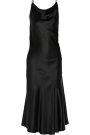 The Row Greda asymmetric satin-twill slip dress