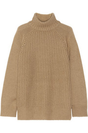 The Row Rivington camel and cashmere-blend turtleneck sweater