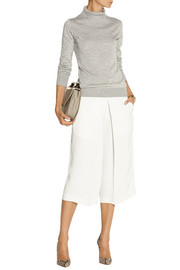 The Row Linden cashmere and silk-blend turtleneck sweater