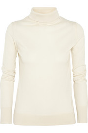 Linden cashmere and silk-blend sweater