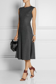 The Row Nista stretch-felt midi dress