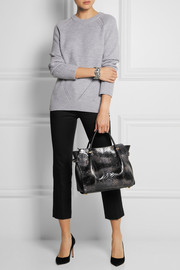 Nina Ricci Marché small python and leather tote