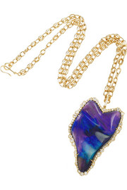 Kimberly McDonald 18-karat gold, opal and diamond pendant necklace