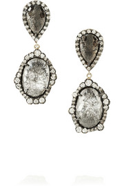 Kimberly McDonald 18-karat rose gold diamond drop earrings