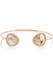 Kimberly McDonald 18-karat rose gold diamond slice cuff