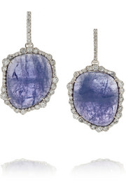 Kimberly McDonald 18-karat white gold, tanzanite and diamond earrings