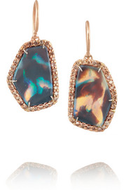 Kimberly McDonald 18-karat rose gold, opal and diamond earrings