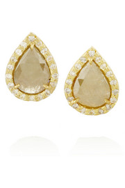 Kimberly McDonald 18-karat gold diamond earrings