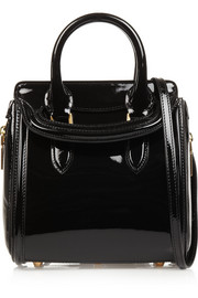 Alexander McQueen The Heroine small patent-leather shoulder bag