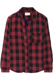 Rag & bone The Leeds plaid woven cotton top
