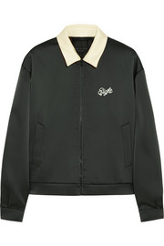 Dean embroidered satin-jersey jacket