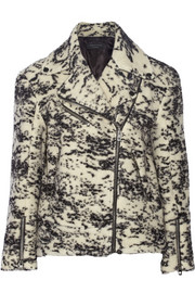 Rag & bone Monaco printed wool-blend biker jacket