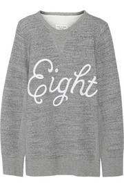Rag & bone Appliquéd cotton-fleece sweatshirt