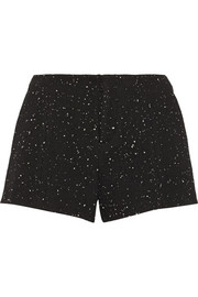 Em flecked tweed shorts