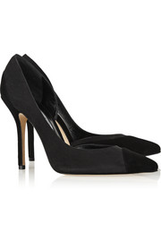 Jenna two-tone suede pumps