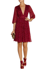 Diane von Furstenberg Printed silk-georgette wrap dress