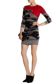 Diane von Furstenberg Intarsia wool mini dress